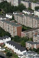 Housing estate, apartment buildings, Cologne, North Rhine-Westphalia, Germany