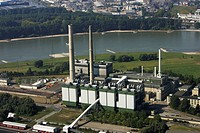 Lausward power station, natural gas electricity generation, Duesseldorf, North Rhine-Westphalia, Germany