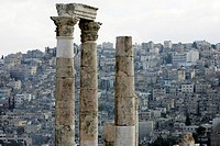 Columns of the roman Hercules temple, Amman, Jordan