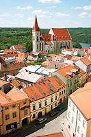 view on a church, Czech Republic, Maehren, Znaim, Znojmo