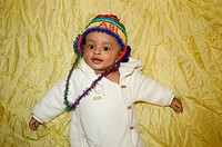 Ethiopian Baby with woolly cap