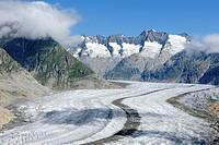 Great Aletsch Glacier, Switzerland, Valais, Goms