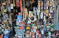 Local business, iron and household goods, crowded store, Vinh Longh, Mekong Delta, Vietnam, Asia