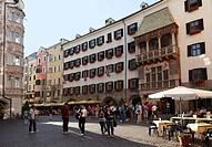 Golden Roof, Herzog-Friedrich-Strasse, historic city centre of Innsbruck, Tyrol, Austria, Europe