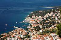 Aerial view of Bol, Brac Island, Dalmatia, Croatia, Mediterranean Sea, Europe