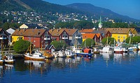 Fishing Boats moored in Oslo, Norway.