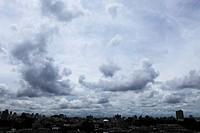 Japan, Tokyo Prefecture, Shinjuku Ward, Clouds over cityscape