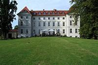 D-Wedendorf, Amt Rehna, North West Mecklenburg, Mecklenburg-Western Pomerania, castle Wedendorf, baroque, manor house, classicism, architect Frederick...