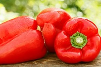 Peppers in natural background
