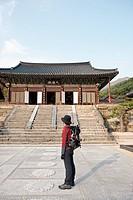 backpack, daeungjeon, HWAEOMSA, Nogodan, Mt. Jiri, hwangjeol_ri, masan_myeon, Gurye_gun, Jeollanam_do, korea, south korea