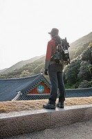 backpack, Manwoldang, HWAEOMSA, Nogodan, Mt. Jiri, hwangjeol_ri, masan_myeon, Gurye_gun, Jeollanam_do, korea, south korea