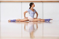 Dancer Stretching on floor