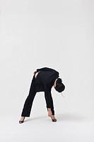 woman dancing, studio