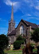 St Carthage´s Cathedral, Lismore, County Waterford, Ireland, Graveyard and cathedral
