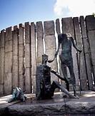 Dublin, Sculpture, The Famine By Edward Delaney,