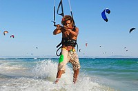 Man kite surfing