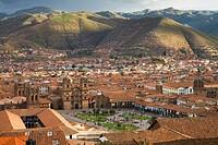 Rooftops of Plaza de Armas in Cusco, Peru