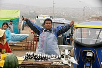 Marketplace vendor, Lima, Peru
