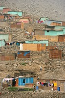 Hillside dwellings, Lima, Peru