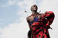 Man from a Maasai Village, Kenya, Africa