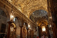 Exhuberant Baroque interior of Santa Maria la Blanca Church, which used to be a synagogue until the 14th century. Already a Christian Church, it was r...