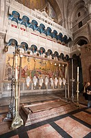 Interior of the Church of the Holy Sepulchre, Jerusalem, Israel, Middle East
