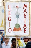 Legion of Mary followers, Lourdes, Hautes Pyrenees, France, Europe