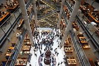 England, London, City of London, Interior of Lloyds Insurance Building