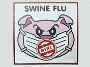 Illustration on Swine flu in newspaper