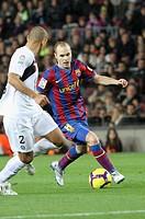 Barcelona, Camp Nou Stadium, 06/02/2010, Spanish League, FC Barcelona vs. Getafe CF, Andrés Iniesta