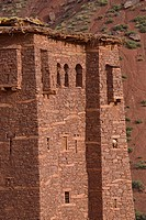 The berber town of Magdaz, close to the Tessaout_gorge, is one of the best conserved berber villages in the Central High Atlas. Morocco.
