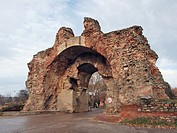 Ruins of a Roman fortress in Hissaria, Bulgaria