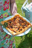 Pissaladiere Onion tart with anchovies, France