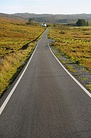 The road to Elgol. Scotland. Great Britain