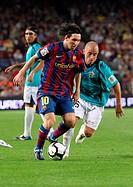 Barcelona, Camp Nou Stadium, 03/10/2009, Spanish League, FC Barcelona vs. UD Almería, Leo Messi