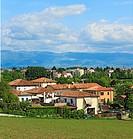 View from villa Capra ´La Rotonda´, near Vicenza, Veneto, Italy