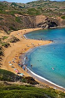 Caballeria Beaches. Minorca. Balearic Islands. Spain.