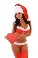 sexy woman as santa claus