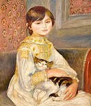 Pierre Auguste Renoir Child with Cat Julie Manet 1887 Musee DOrsay D Orsay Museum and Art Gallery Paris France Europe EU