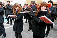 music band, Igualada, Catalonia, Spain.