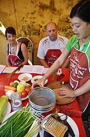 Hoi An (Vietnam): tourists taking a Vietnamese cuisine class at Gioan Cooking School