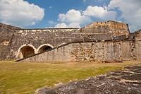 The San Cristobal Castle interior architecture in san Juan, Puerto Rico, West Indies