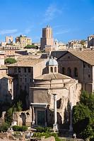 Italy, Rome, Roman Forum, Temple of Romulus