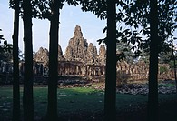 Cambodia, Siem Reap, Bayon Temple