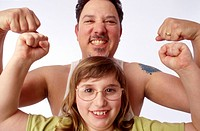 Muscle Man and Child