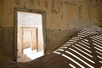 interior of home at Kolmanskop- old deserted diamond mining town in namibia, Africa