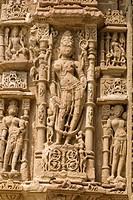 Carvings on the Sun Temple, Modhera, Gujarat, India