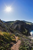 USA, California, Rocky Creek bridge