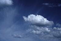 White Cloud In A Deep Blue Sky