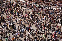 Crowds at montreal international jazz festival